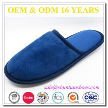 Promotional suede fabric adults soft hotel anti-skip sole