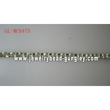 Fashion jewelry chain Shiny Silver Plate