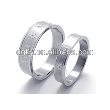 Fashion Stainless Steel Rings Engraved Ring