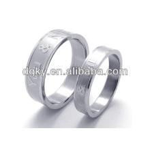 Moda anéis de aço inoxidável gravado anel