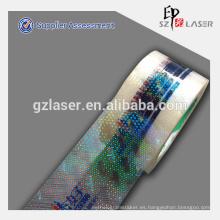 Rodillo holográfico personalizado de la cinta del embalaje