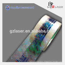 Custom holographic packing tape roll
