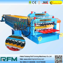 FX color steel sheet ibr double layer roll forming machine