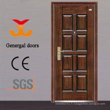 Portes de sécurité d'entrée en acier bon marché résidentiel