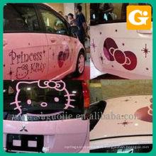 Belle voiture autocollant de princesse Kitty