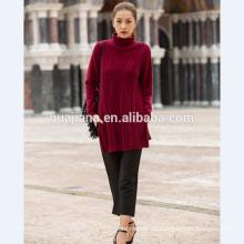 2017 Mode Frau lange Pullover