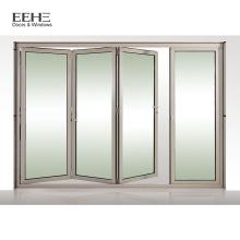 Белые алюминиевые двойные французские двери патио