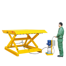 Xilin 2700kg Stationary electric lift table with Double Hydraulic Pump
