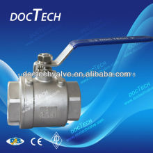 Thread 2-PC Stainless Steel Ball Valve 1 inch