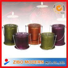 Christmas Decorative Porcelain Candle Holder Stand Set