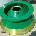 Pièces de rechange professionnelles de concasseur à cône d'OEM pour le concasseur Metso