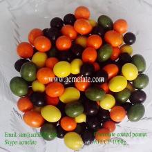 Cor natural natural de amendoim revestida com chocolate