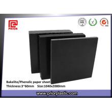 Hoja de papel fenólico negro con precio de fábrica