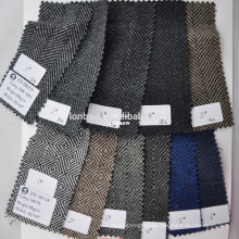 Cheap overcoat wool polyester woolen fabric 500g/m on sale