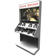 Loja de varejo personalizada Salão para andar de parede Atacado Acessórios para jogos de computador Suporte de exibição de madeira
