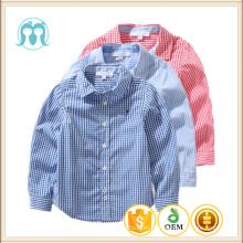 Atacado Meninos Do Bebê T-shirt de Algodão de Manga Longa Crianças Blusa Xadrez Cardigan Para Crianças camisa xadrez confortável para o menino