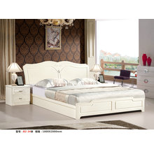 Ivory Color Kd Bedroom Furniture, Kd Dresser, Wardrobe, Bed (B2)