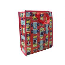 gewebte faltende Geschenkplastikeinkaufstasche