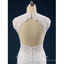 Nuevo estilo elegante una línea de escote sweatheart y vestido de novia sin mangas de encaje AS41401