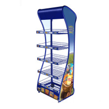 Metal Wire Display Rack with Graphic Panel / Display Stand