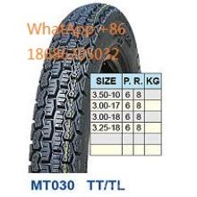 Moto pneu 3.50-17, 3.00-17 3.00-18, 3.25-18