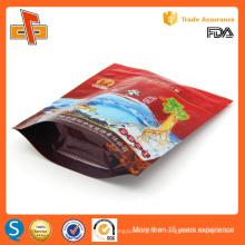 Hot Self stand up sac de fermeture à glissière en plastique pour emballage