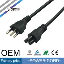 SIPU cableado de alta calidad cableado eléctrico cable enchufe europeo Italia portalámparas pin de 3 pines utilizado para PC o loptop