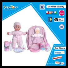 Brinquedo plástico boneca de 12 polegadas com sons brinquedos vívidos bebê bonecas