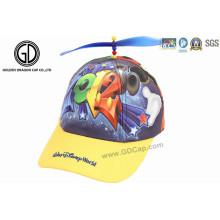Chapéus e boné de beisebol de esportes para crianças de moda com rotor de brinquedo