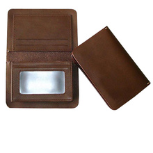 Men PU business cardholder 2014 brown color