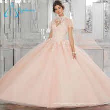 Lace Appliques Sequined Beading Crystal Quinceanera Dress