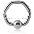 Surgical Steel Ball Closure Hexagon Ring