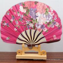 Novo design redondo forma de bambu mão ventilador