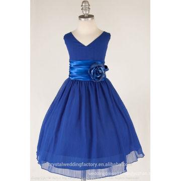 Children Wedding 2-12 Years Old girls Birthday Cap Sleeve A Line Flower Girl Dresses Pattern Kids Party Wear LF12