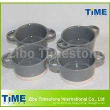 Horno de cerámica de cerámica redonda Cake Pan seguro
