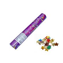 Diseño de alta calidad del OEM del cañón del confeti del partido de JiLe disponible con la estrella metálica de la hoja