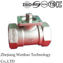 Válvula de bola de alta plataforma 1PC Wirh Casting de inversión de acero inoxidable