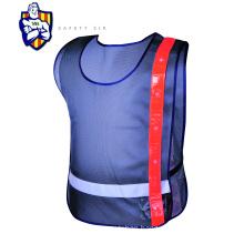 Polyester LED light construction safety vest flashing reflective jacket