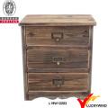 Einzigartiges Wohnzimmer-Organizer Antikes Holz 3-Schubladen Aufbewahrungsschrank