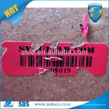 Indoor&Outdoor Strong adhesive private label self destructive label