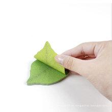 Hoja de la vendimia nota adhesiva Planta verde libreta de notas marcapáginas Papelería Accesorios de oficina Útiles escolares