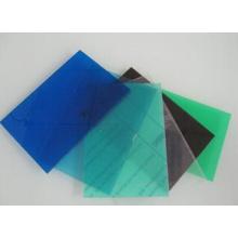 Hoja transparente de PVC disponible en muchos colores