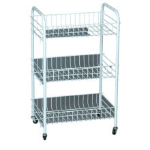 bathroom storage cart and trolley rack