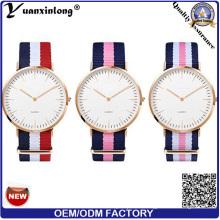 Yxl-152 promocional más nuevo reloj de pulsera deporte Casual Lady reloj correa de nylon Nato Custom OEM relojes