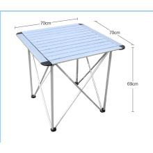 Tabelas de dobramento de acampamento exteriores e tabela de alumínio das cadeiras, tabela portátil pequena