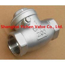 Válvula de retención China de acero inoxidable roscado de alta calidad (H14)
