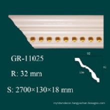 high density construction material PU crown moulding corners for ceiling