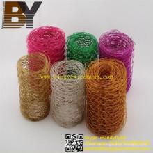 Dekorations-Kranz farbiges sechseckiges Netz