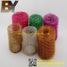 Decoration Wreath Colored Hexagonal Net