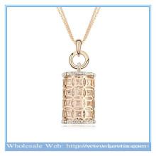 Горячее сбывание 18k золото австрийское кристаллическое полые волшебное ожерелье свитера формы бутылки дух